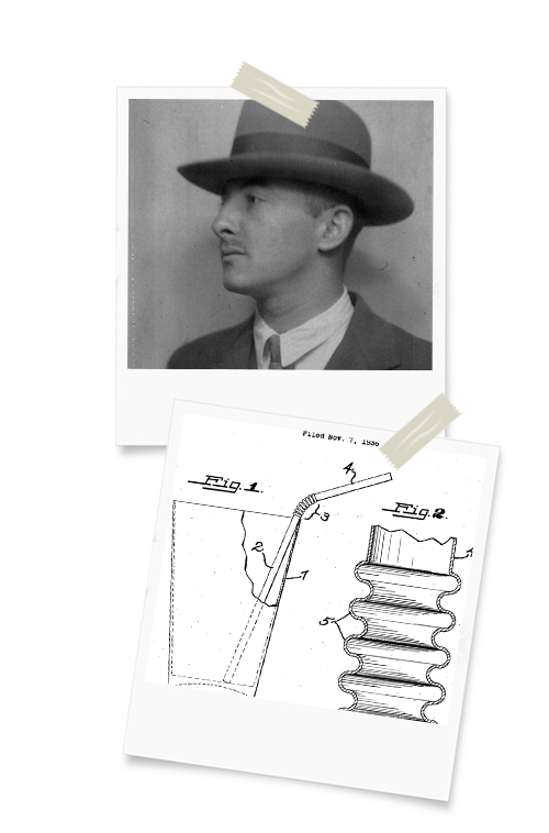 Joseph B. Friedman, inventeur de la paille